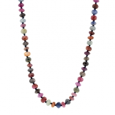 Natural Mixed Sapphire Long Necklace Image