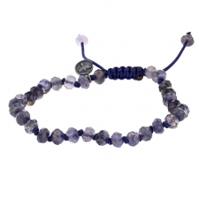 Iolite 6mm Faceted Bracelet