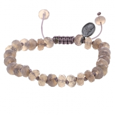 Grey Onyx 8mm Faceted Bracelet Image