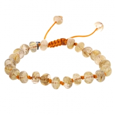 Gold Rutile Quartz 8mm Smooth Bracelet Image