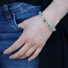 Prehnite 8mm Smooth Bracelet Image
