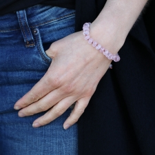 Rose Quartz 8mm Smooth Bracelet Image