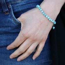 Amazonite 6mm Faceted Bracelet