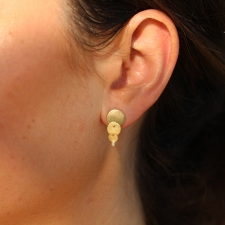 Cascading Gold Post Earrings Image