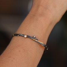 Seafire Blackened Silver and Gold Cuff Image