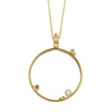 Long Monocle Gold Necklace Image
