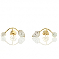 Unique Pearl Stud Earrings Image