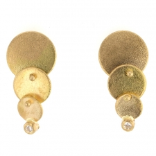Cascading Gold Post Earrings