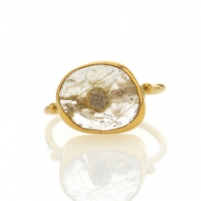 Quartz Gold and Diamond Ring Image