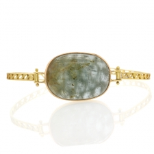 Aquamarine Filigree Gold Bracelet Image