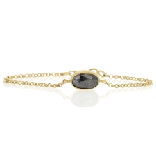 Reversible Diamond Gold Chain Bracelet Image