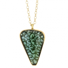 Tourmaline Filigree Pendant Necklace Image