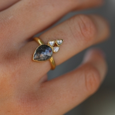 Rose Cut and Polki Diamond Gold Ring Image