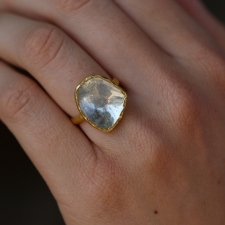 22k Polki Diamond Ring Image