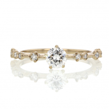 New Moon Diamond Solitaire Ring Image