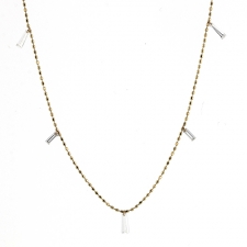 Tapered Diamond Necklace Image