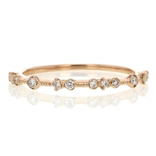 Diamond Dotted 18k Rose Gold Band Image