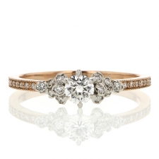 18k Rose Gold and Platinum Supreme Diamond Ring Image