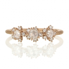 Triple Diamond Cosmos 18k Rose Gold Ring Image