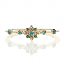 Paraiba Tourmaline, Diamond and Emerald Orchid Ring Image