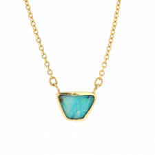 Lake Opal 18k Gold Necklace Image