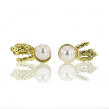 Japanese Akoya Pearl Moonbeam Stud Earrings Image