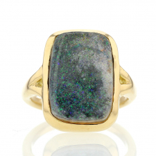 Rectangular Boulder Opal Galaxy Ring Image