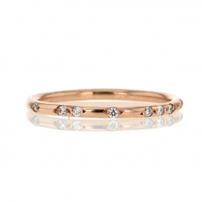 18k Rose Gold Constellation Pave Band Ring Image