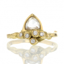 Rose Cut Diamond Star Cloud Ring Image