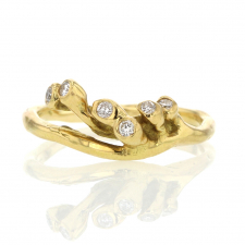 Diamond Sea Anemone 18k Gold Crown Ring Image