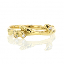 Birch Branches Pave Diamond Icelandic Ring Image