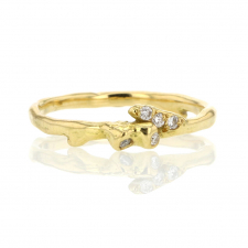 Birch Branches Pave Diamond Icelandic Gold Ring Image
