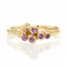 Pink Sapphire Gold Sea Anemone Ring Image