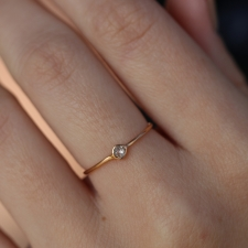 White Diamond 18k Rose Gold Ring Image