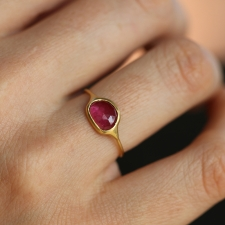 Pink Tourmaline 18k yellow gold ring Image
