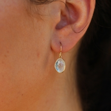 Rainbow Moonstone 14k Bezel Earrings Image