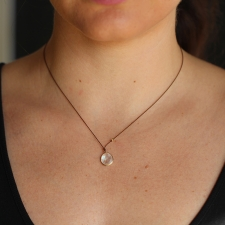 Rainbow Moonstone Simple Drop Necklace Image