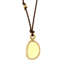 Yellow Sapphire Nylon Cord Necklace Image