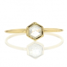 18k Hexagon Diamond Ring Image