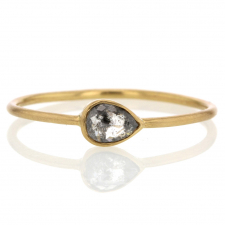 Rustic Diamond Teardrop Ring Image