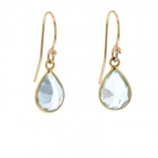 Blue Topaz Gold Earrings Image