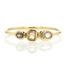 Triple Diamond 18k Gold Ring Image