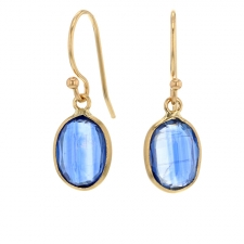 Kyanite Gold Drop Earrings Image