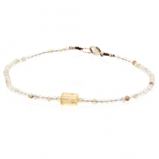 Rutilated Quartz and Imperial Topaz Bracelet Image