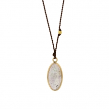 Labradorite Oval Nylon Cord Drop Necklace Image