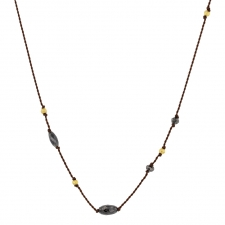 Black Diamond Bead Nylon Necklace Image