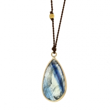 Teardrop Kyanite Gold Necklace Image