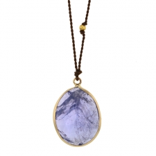 Tanzanite Gold Nylon Cord Necklace Image