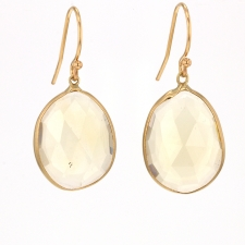 Gold Citrine Freeform Earrings Image