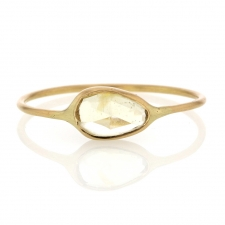 Yellow Tourmaline Simple 18k Gold Ring Image